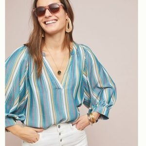 New Anthropologie Brenda Peasant Top